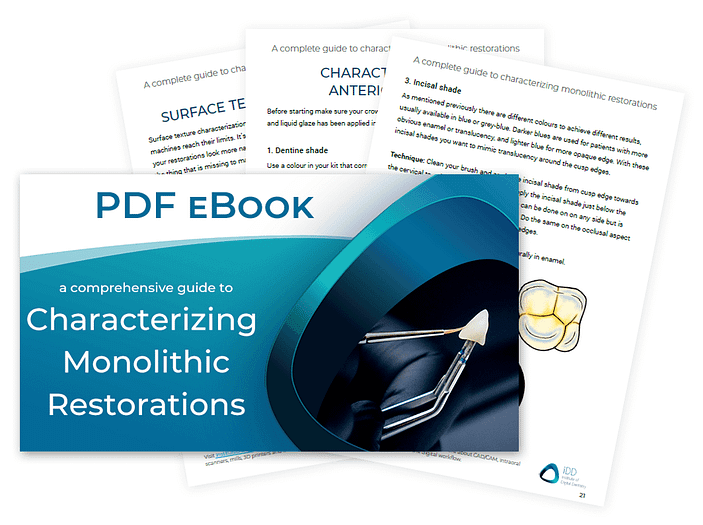 how to characterize dental restorations stain and glaze PDF institute of digital dentistry